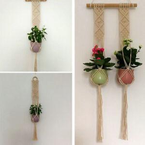 Pot-Holder-Macrame-Plant-Hanger-Hanging-Planter-Basket-Jute-Rope-Braided-Craft