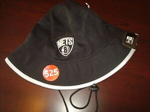 4238b6c7baab2 BROOKLYN NETS NEW ERA GOLF SZ L RARE SCRIPT hat cap BUCKET FLOPPY ...