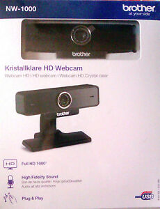 WEBCAM-BROTHER-NW-1000-HD-1080p-Autofocus-Visio-Conference-Son-HD-NEUF