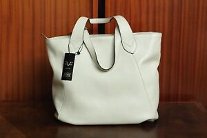 227c3cffe3 VERSACE 19.69 Women s 100% Leather Cream Handbag Free Shipping Italy ...