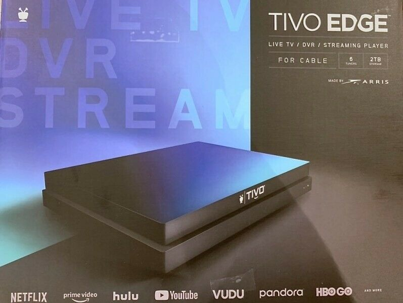 NEW TiVo Edge Live TV / DVR Streaming Player, for CABLE, 6 Tuners, 2TB 2tb dvr edge for live new streaming tivo