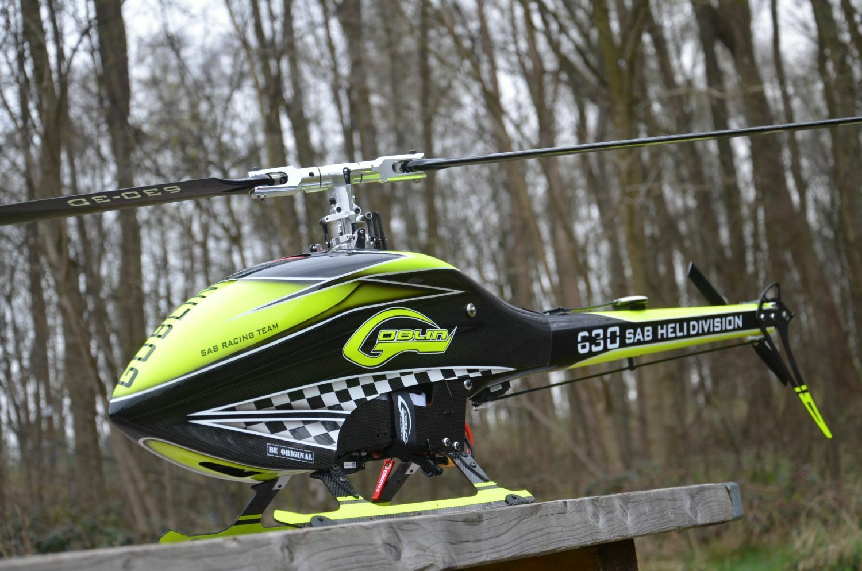 Sab Goblin 630 RTF Helicopter+Autopilot Axon + greypner MZ18 Hott Ready to Fly