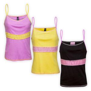 Womens-Ladies-Cotton-Pyjama-Top-Everyday-Spaghetti-Strap-Cami-Nightwear-T-shirt