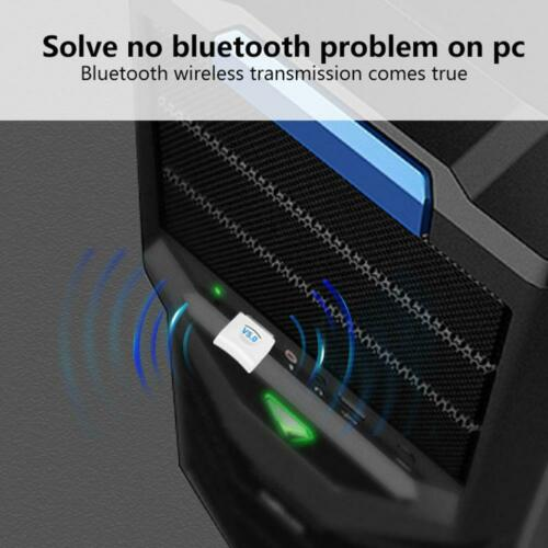 Mini Wireless White USB Bluetooth V4.0 Dongle Adapter For Laptop PC Computer AW