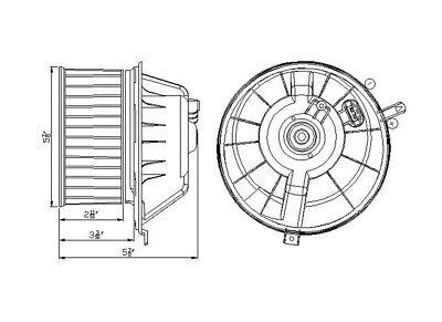 HVAC Blower Motor Front TYC 700225