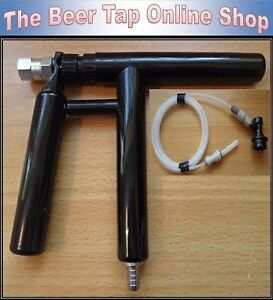 """Beer Tap Pluto Gun with 3/16"""" Beer Line. Opt Ball Lock Disconnect for Corny Kegs"""