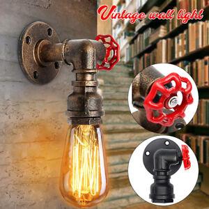 Industrial-Vintage-Metal-Wall-Sconce-Hanging-Pendant-Light-Holder-Lamp-3-W