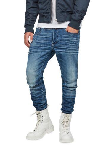 G-STAR Men/'s Jeans d-staq 5 Pocket Blue Slim Fit Medium Indigo Aged