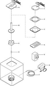 Biorb Nano-aquarium Set Complet Cube 60 Led Blanc 40 X 43.3 Cm