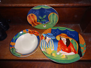 Image is loading Sango-Cafe-Paris-4914-Plate-Bowl-Mix-and- & Sango Cafe Paris 4914 Plate Bowl Mix and Match You Choose BU13 | eBay