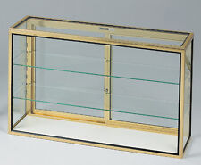 Portable Made In Usa Display Showcase Knockdown Glass Locking Counter Case New