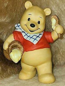"Vintage Disney Winnie the Pooh Hunny Ceramic Figurine Honey Pot Made in Japan 4"""