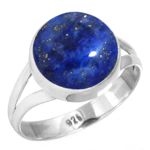 Natural Lapis Ring 925 Sterling Silver Handmade Jewelry Size 8.5 Iw89117