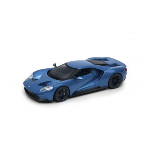 ° Welly 24082 Ford GT metallic blau Maßstab 1:24 Modellauto NEU