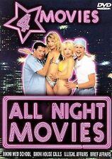All Night - 4 Movie Set (DVD, 2001, 2-Disc Set) BIKINI MED SCHOOL, BRIEF AFFAIRS