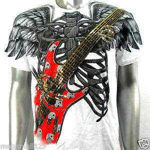 Artful-Couture-T-Shirt-Tattoo-Guitar-AW16-Sz-M-L-XL-XXL-Vtg-Rock-Streetwear-Punk