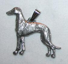 Greyhound Grey Hound Dog Harris Fine Pewter Pendant Jewelry USA Made