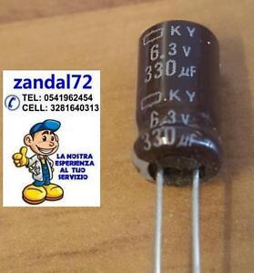 10 PEZZI Condensatori Elettrolitici 1000uF 6,3V 105° NUOVI E FATTURABILI