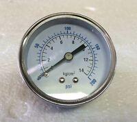 Air Pressure Gauge 2.5 Center Back Mount 1/4 Npt 2-1/2 Dial - 0 To 200 Psi
