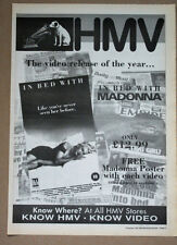 In Bed With Madonna - Video - 1991 - ORIGINAL ADVERT POSTER NME free UK P&P