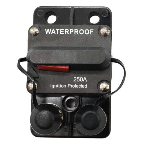 "250Amp Circuit Breaker for Boat with Manual Reset Waterproof 3//8/""-16 Stud"