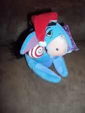 "Eeyore Lollipop Christmas Santa Hat Candy Cane Dream Int'l 7"" Plush Bean Bag"