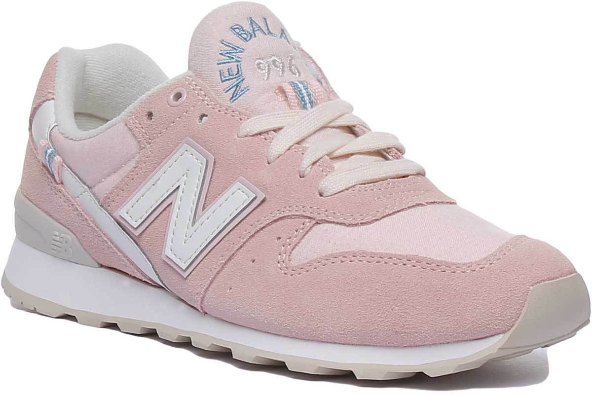 New Balance 996 damen Casual Athletic Suede Trainers In Peach Größe UK 3 - 8