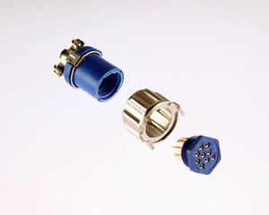 9 Pin Female Miniature Hexagonal Panel Connector Socket Sleeve Hood Cable Clamp