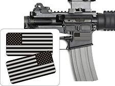 Pair - American Flags Black Ops Stealthy Vinyl Decals | Stickers AR-15 AR15 gun