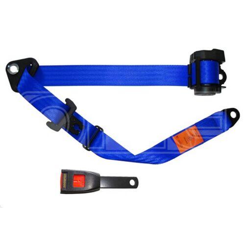 500//15 bleu SECURON Seat Belt-Auto Lap /& Diagonal-Bleu