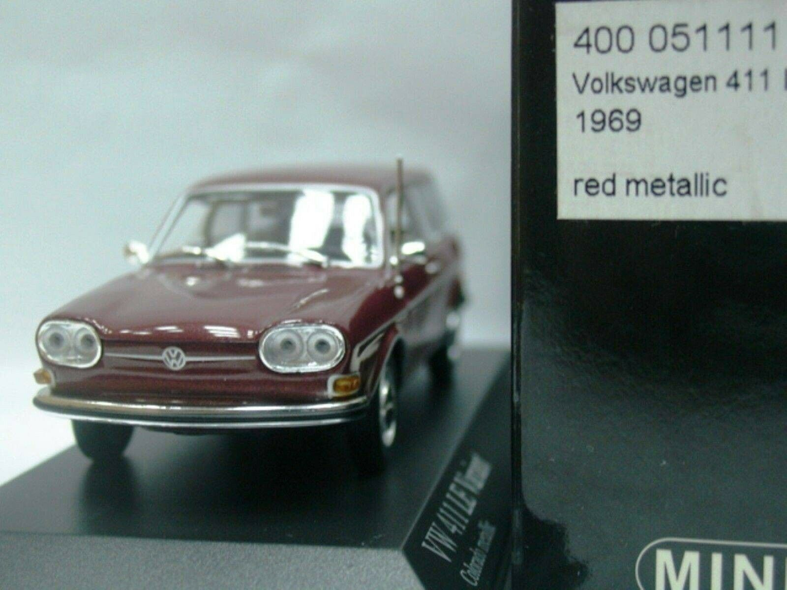 WOW EXTREMELY RARE VW Type 4 411 LE Variant 1969 colorado Red 1 43 Minichamps