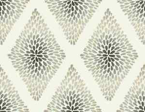 Wallpaper-Designer-Gray-Taupe-Burst-Harlequin-on-Cream
