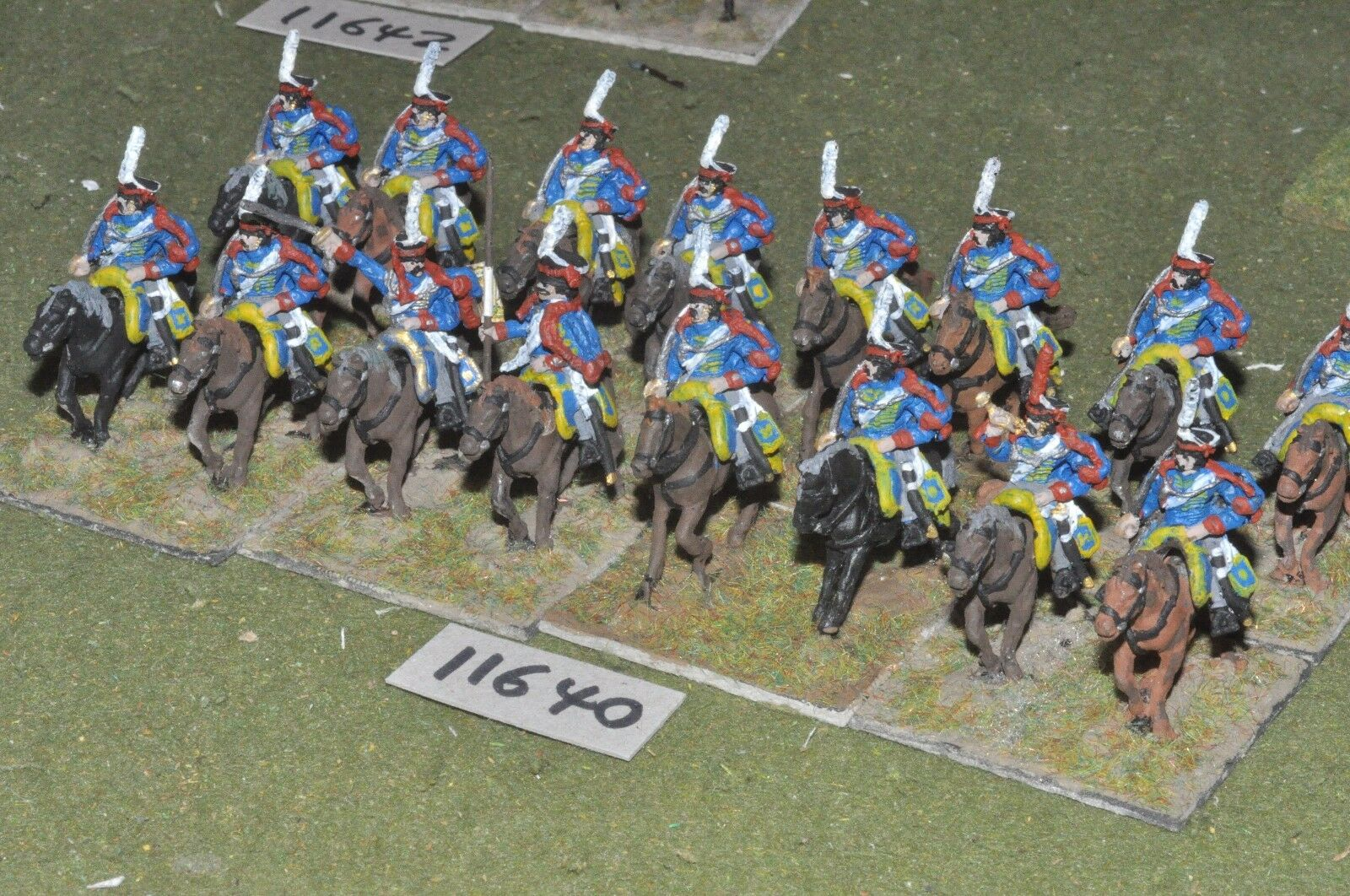 25mm napoleonic   russian - hussars 16 cavalry - cav (11640)