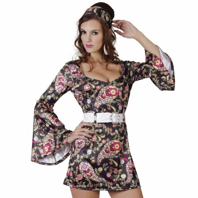 Black 1970s 1960s #Go Go One Size Dress Disco Fever Fancy Dress Costume