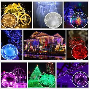 2x 20 DEL Fairy String Lights 2 m alimenté par batterie Jardin Extérieur Fête de mariage