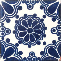 9 Mexican Tiles Wall Or Floor Use Talavera Mexico Ceramic Handmade Pottery C028