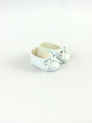 """White Ballet Bow Flats Shoes Fits Wellie Wishers 14.5/"""" American Girl Clothes"""