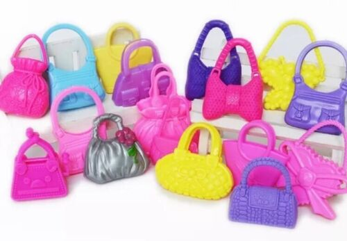 Barbie Doll Handbag Purse Set Lot Of 10 Random Purse Accessories US Seller