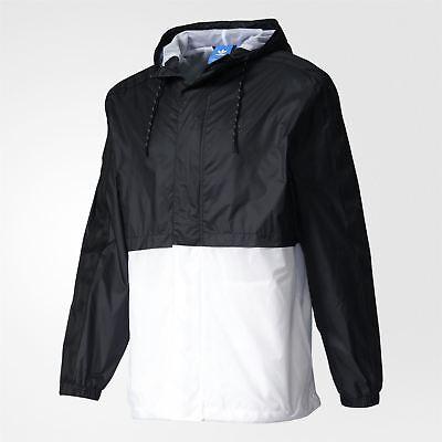 Adidas Originali Berlino Giacca a Vento Bianco Nero UOMO Retro Vintage Cappotto   eBay