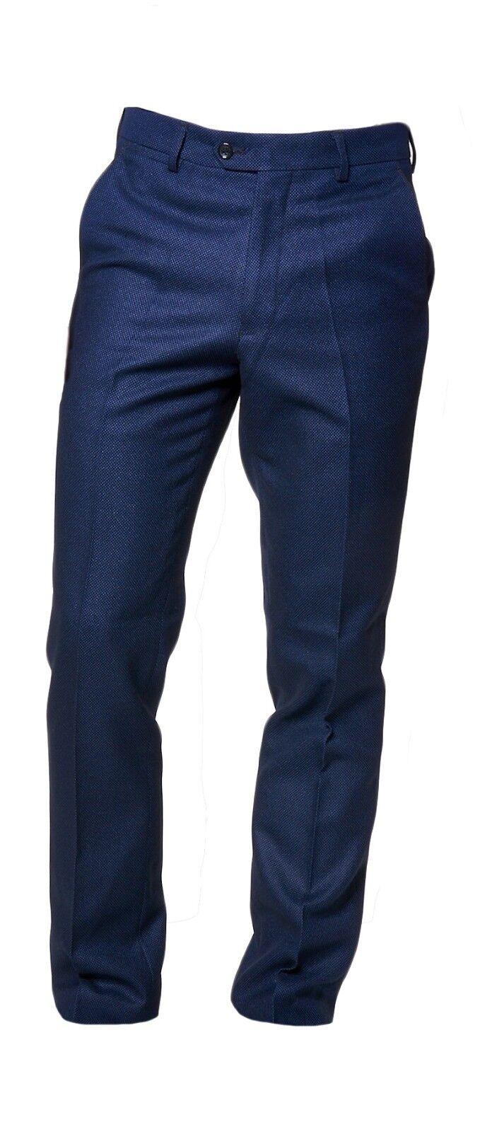 Da Uomo Marc Darcy formale DRESSY Callum Pantaloni-Blu Scuro