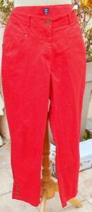 TERRE-DE-MARINS-pantalon-rouge-coton-facon-jeans-FRANCE-44-grand-46-ete-TBE