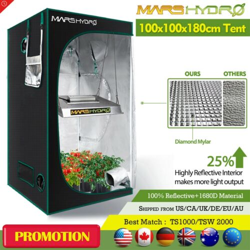 Mars Hydro TS 1000W Set LED Grow Light for Plants+3/'x3/' Indoor Grow Tent Kits