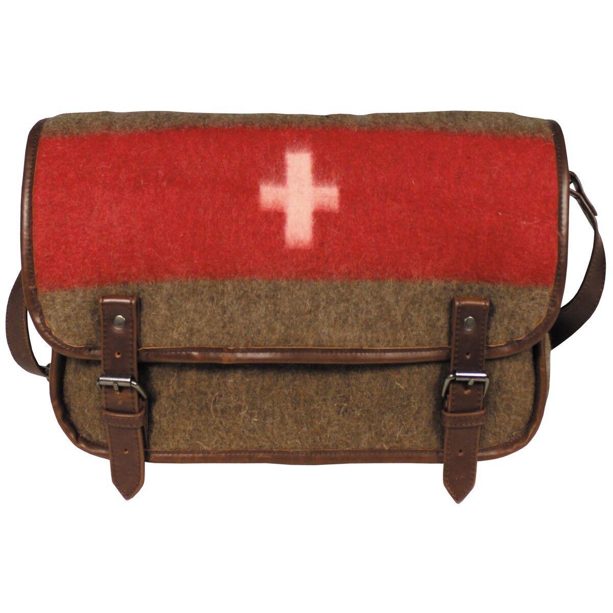 PURE TRASH Borsa Tracolla uomo donna militare svizzera Swiss Shoulder bag 30013