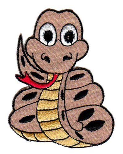 Bb14 serpiente Patch cómic animales perchas imagen Patch parchear ropa aplicación
