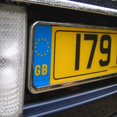 Chrome front number plate mount frame plinth for Range Rover L322 Vogue 2002 on