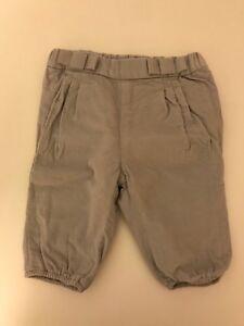 Pantalon-Jacadi-velours-gris-perle-mille-raies-fille-6-mois-NEUF-JAMAIS-PORTE
