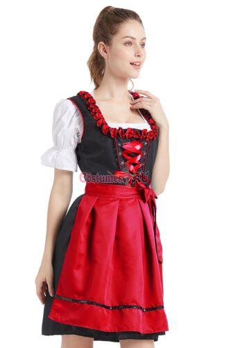 Deluxe Womens Oktoberfest Costume Bavarian Beer Maid Wench German Fancy Dress