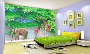 3D Giraffe 557 Wallpaper Murals Wall Print Wallpaper Mural AJ WALL UK Carly