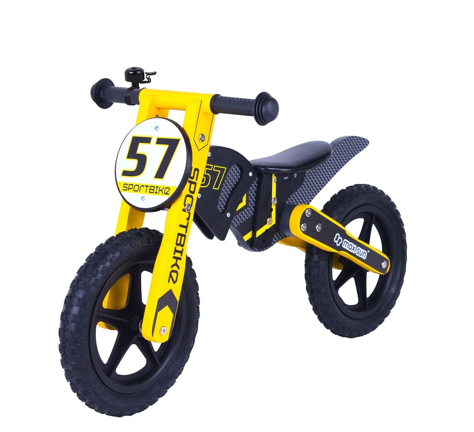 Siva Woody Sport Moto Bois Vélo Draisienne pour Enfant dès 3 Ans