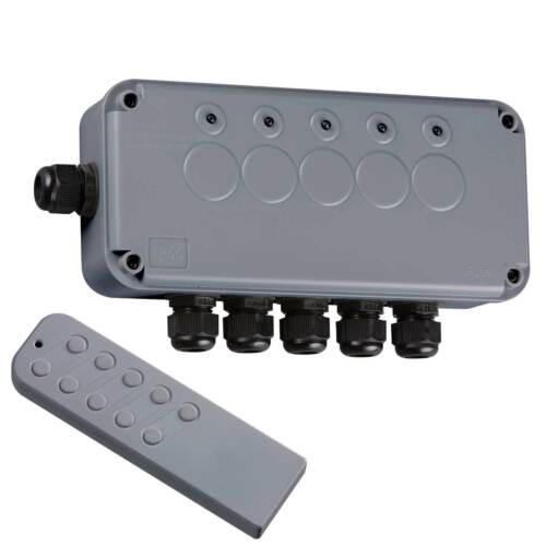 Knightsbridge Outdoor Remote Control IP66 Electrical Switch Box IPAV665G 5 Way